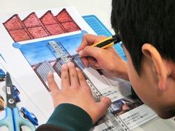 折り紙建築③