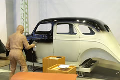 Application of Finishing Coat to Type AA Passenger Car Body